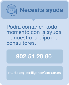 Necesita ayuda. 902 51 20 80. marketing-intelligence@axesor.es